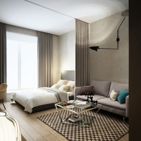 Ultimate Studio Design Inspiration: 12 Gorgeous Apartments | Bedroom