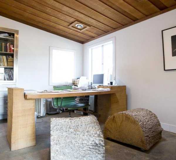 Amazing Wood Furniture and Office Interior Design with Rustic Vibe