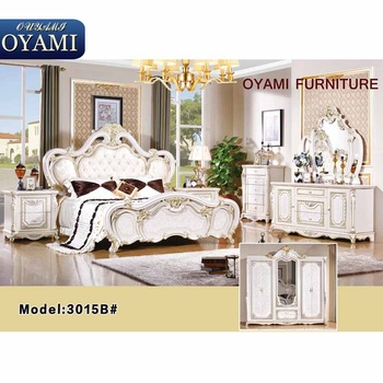 Classic clear white acrylic italian bedroom furniture set