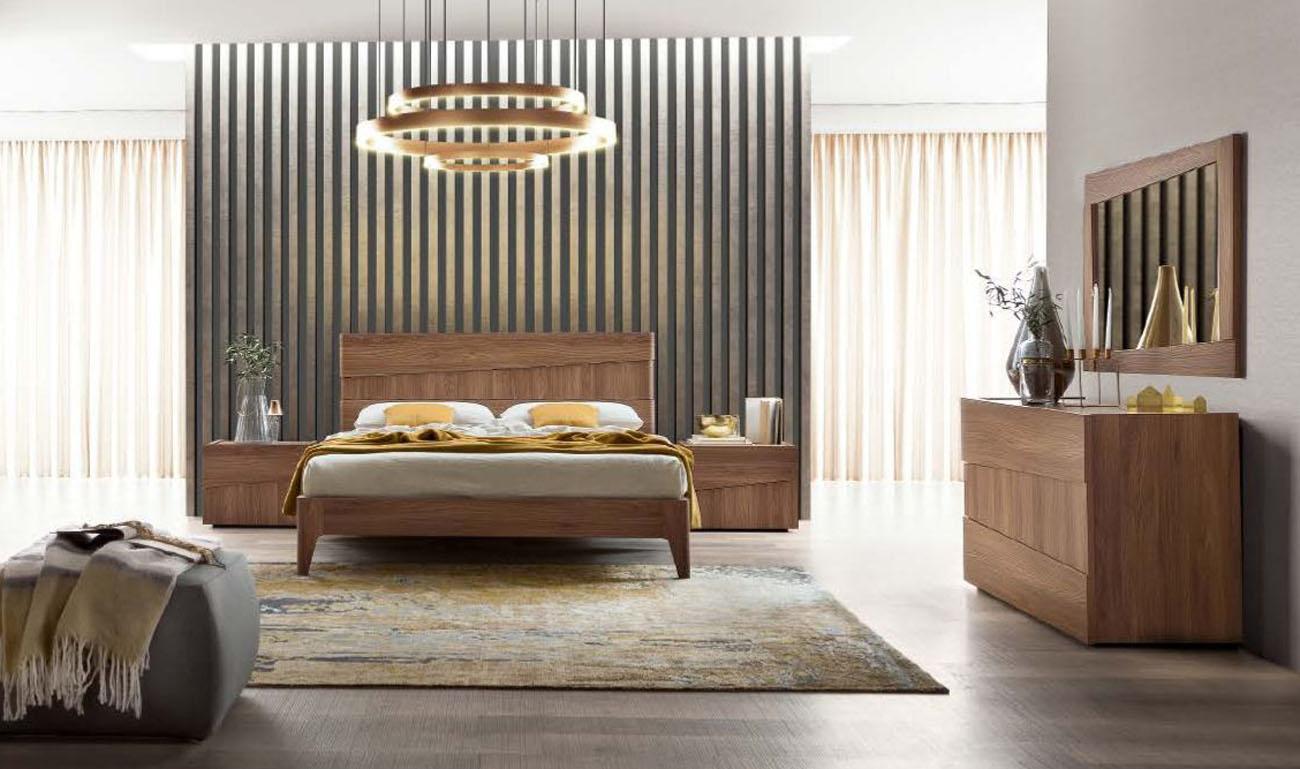 SKU 251819. Made in Italy Wood Platform Bedroom Furniture Sets