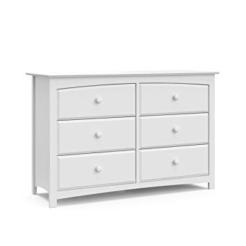 Amazon.com: Storkcraft Kenton 6 Drawer Universal Dresser, White