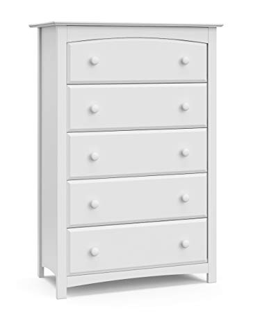 Amazon.com: Storkcraft Kenton 5 Drawer Universal Dresser, White
