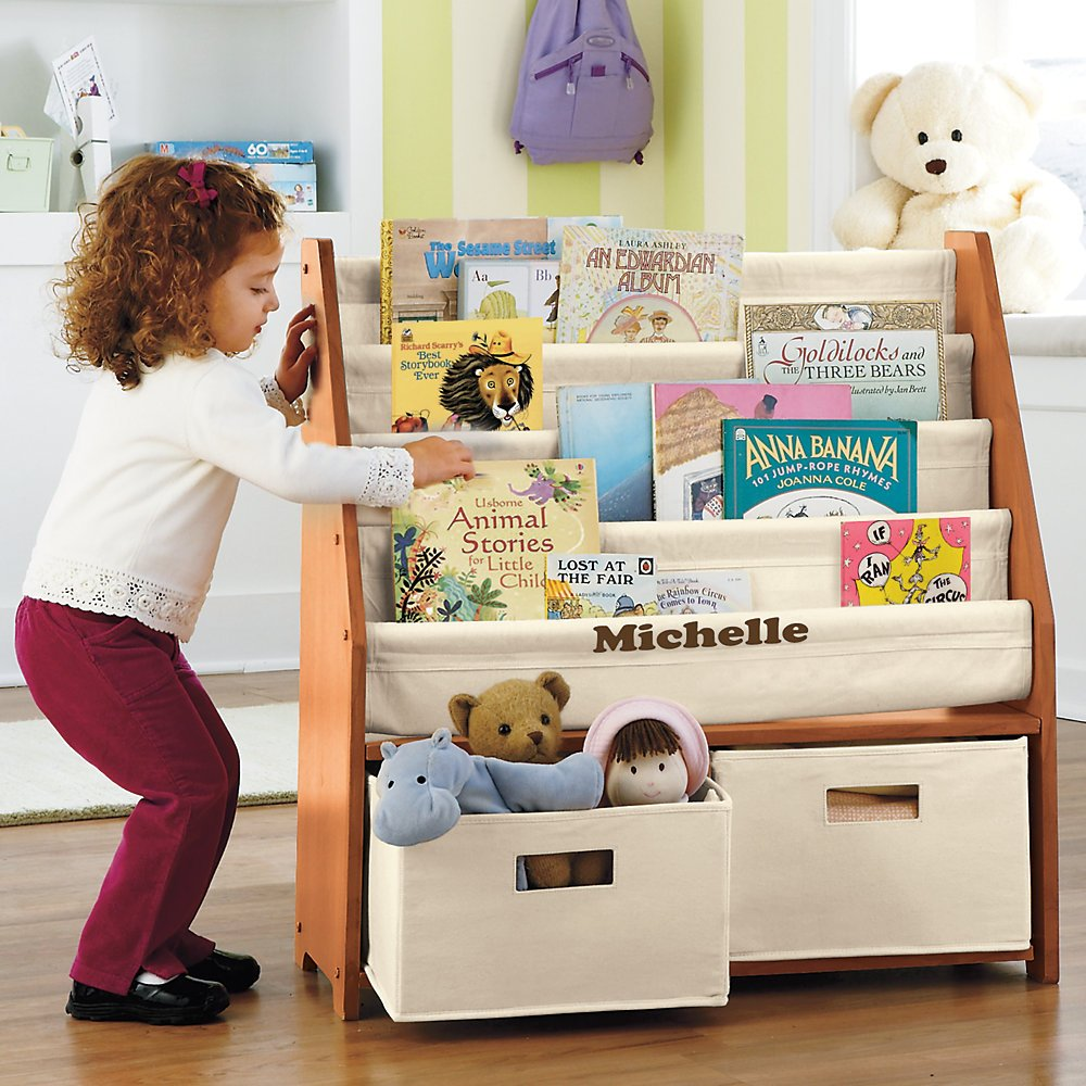 Finding a cute kids bookcase with storage