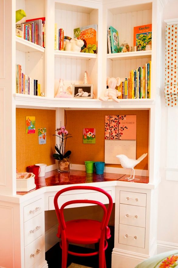 Cute little corner desk!
