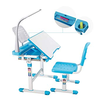 Amazon.com: Mecor Kids Desks,Childrens Desk and Chair Set Height