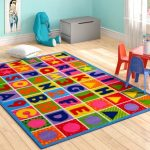 Lift up the look of room with kids   playroom area rugs