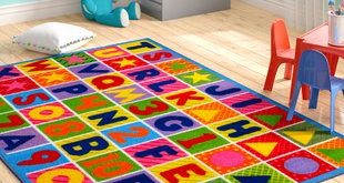 Fornax Numbers and Letters Kids Area Rug