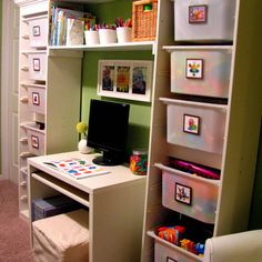 nice study table idea Kids Photos Organization Design, Pictures, Remodel,  Decor and Ideas