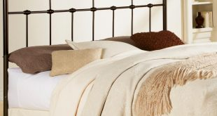 Fashion Bed Group Dexter California King-Size Metal Headboard with  Decorative Castings and Globe Finials