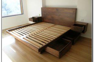 King Size Platform Storage Bed 27