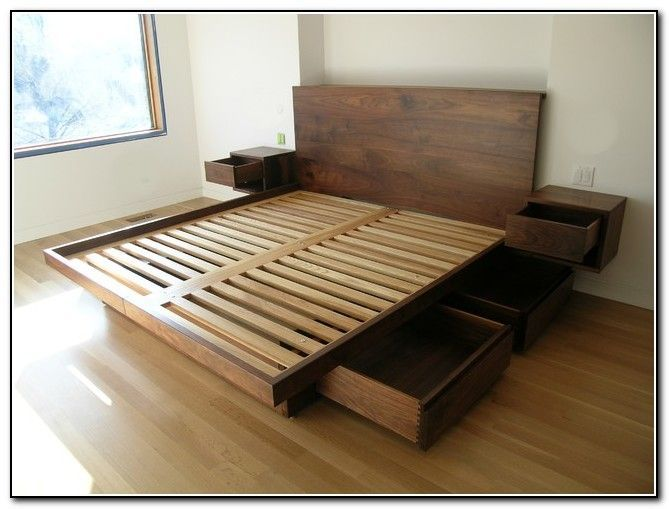 Why a king size platform bed frame with   storage