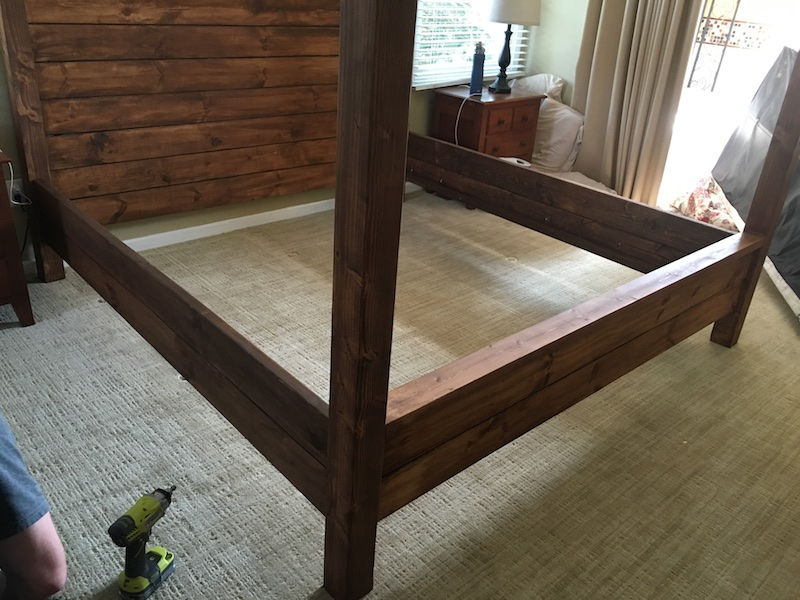DIY King Size Canopy Bed - Step 8