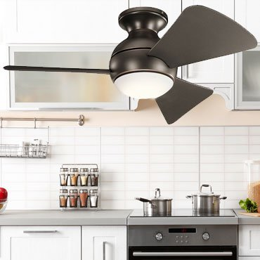 Buy modern kitchen ceiling fans with   lights to get an attractive look