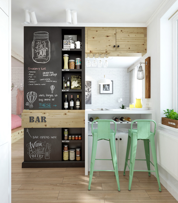 View in gallery 2s chalkboard kitchen Chalkboard Wall Trend Comes to Modern  Homes: 38 Inspirational Ideas