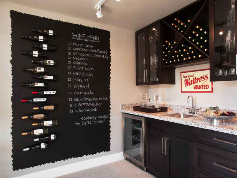 kitchen decorating idea for chalkboard paint. kitchen wall decor tips