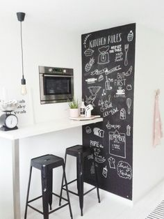 Chalkboard kitchen Kitchen Arrangement, Chalkboard For Kitchen, Chalkboard  Walls, Chalkboard Lettering, Diy