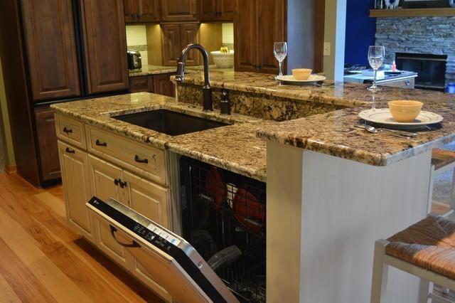 Kitchen Sink Dishwasher #3 - Kitchen Islands With Seating Sink And  Dishwasher