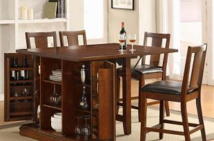 incredible dining table wine storage counter height kitchen