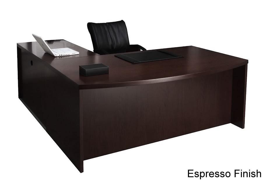 Mayline Mira Series L-Shaped Modern Office Desk