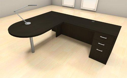 Traveller Location: 3pc L Shape Modern Executive Office Desk Set, CH-AMB-L18:  Kitchen & Dining