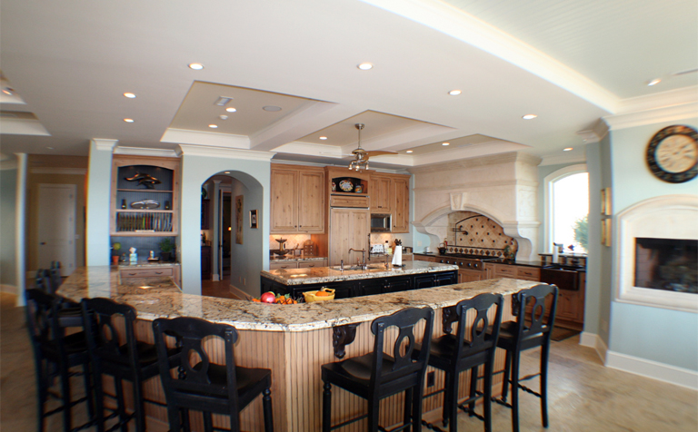 large kitchen island with seating and storage Home, large kitchen