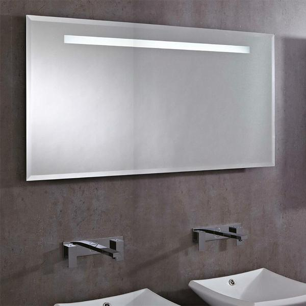 Phoenix Pluto Large Rectangular Heated Demist LED Bathroom Mirror | MI021