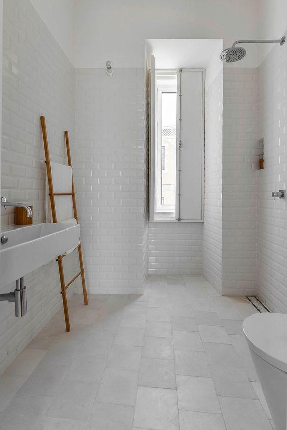 large white tiles