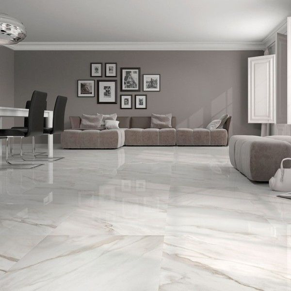 White gloss floor tiles | Large white floor tiles | Trade prices