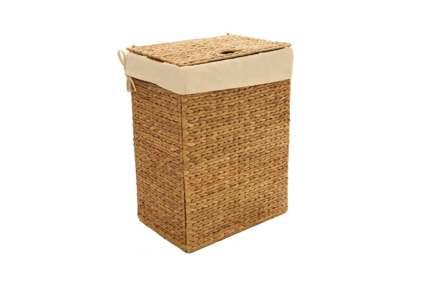 Best wicker laundry basket with a lid. Seville Classics Foldable Water  Hyacinth Portable Hamper