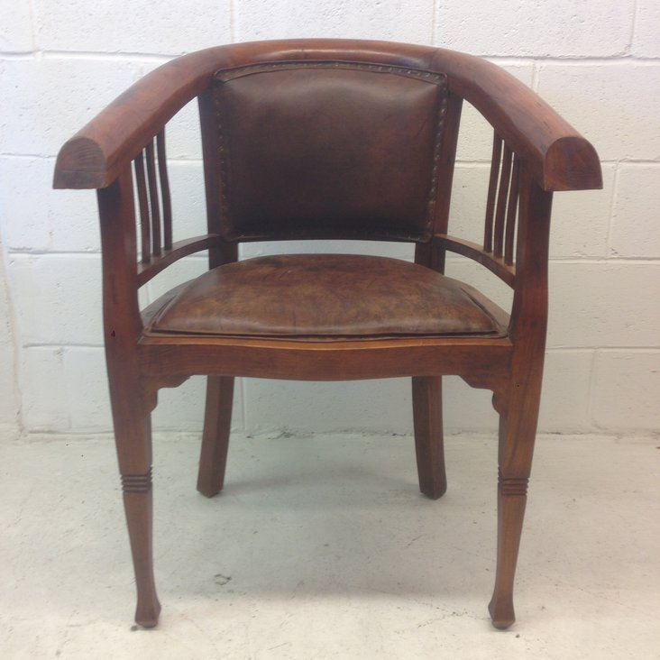 Solid Wood and Leather Captains Chair u2014 Vintage Store - LOVE