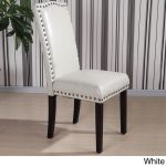 Antique style furnishing with leather   dining chairs with nailheads