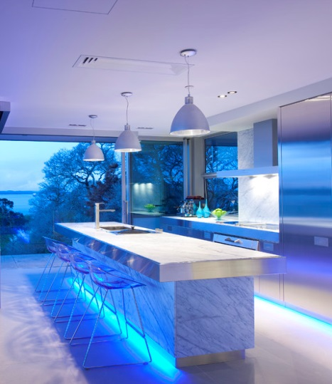 chris-lee-homes-blue-kitchen-LED-lighting