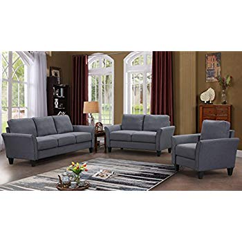 Amazon.com: Harper&Bright Designs 3 Piece Sofa Loveseat Chair