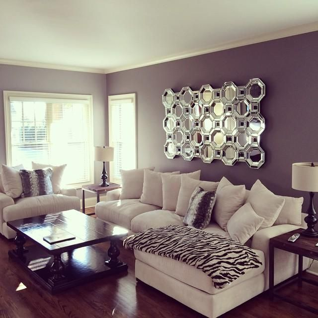 Living Room Wall Décor Charms with Mirrors
