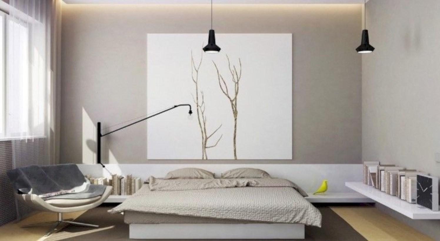 Minimalist master bedroom decoration ideas 43