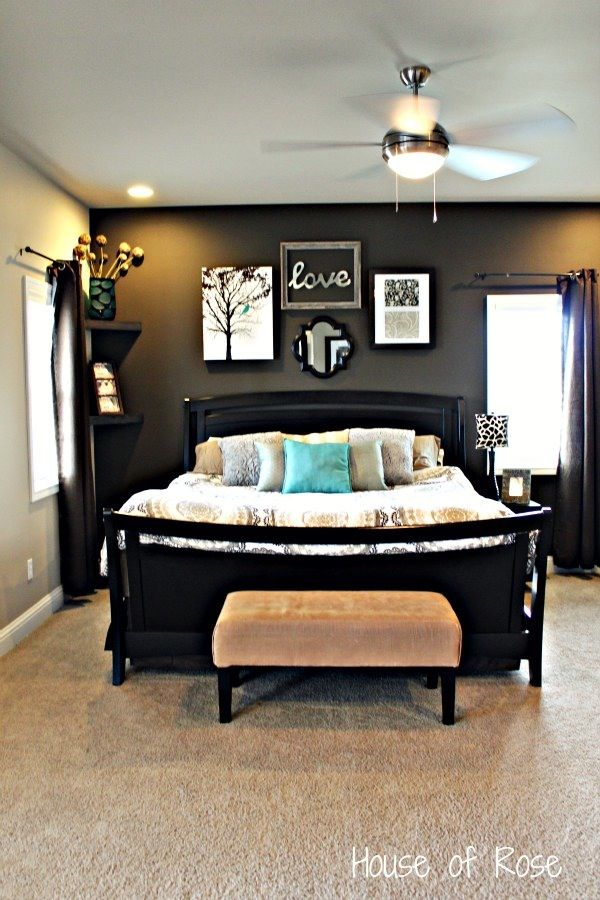 Master Bedroom Wall Makeover Brown Tones