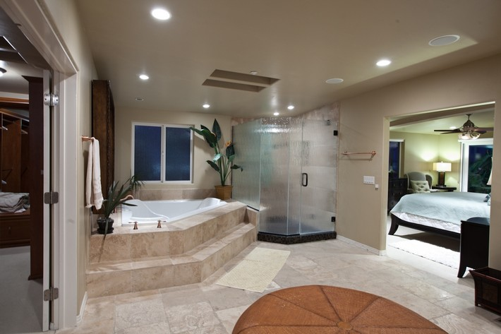 stunning-bathroom-ideas-with-corner-white-bathtub-and-