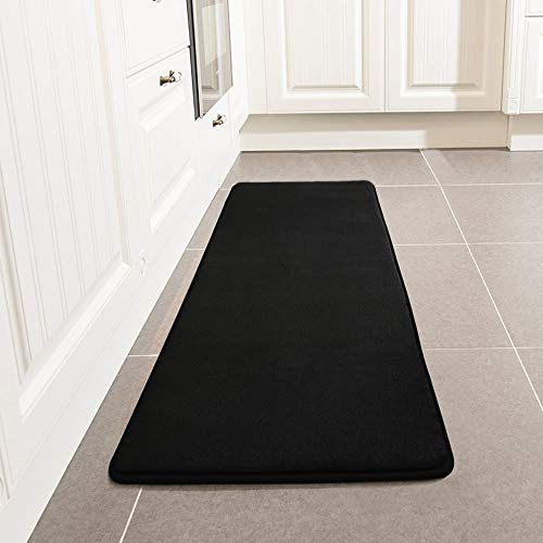 LEEVAN Kitchen Rug, Memory Foam Kitchen Comfort Mat Super Soft Microfiber  Flannel Area Runner Rugs
