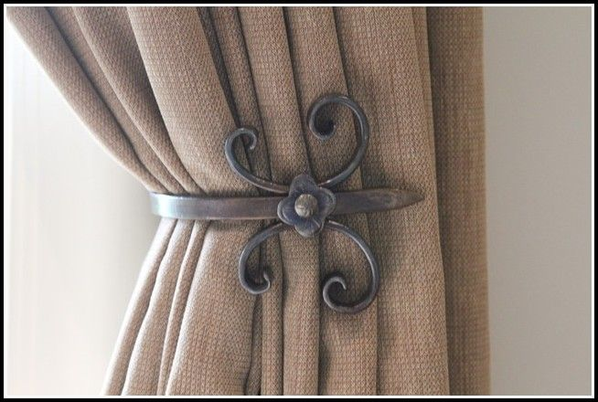 Black Metal Curtain Tie Backs