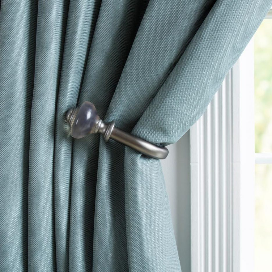 Metal Drapery Holdbacks Blue Tie Backs Fabric Curtain Tiebacks Outdoor Curtains  Curtain Tie Backs Bronze