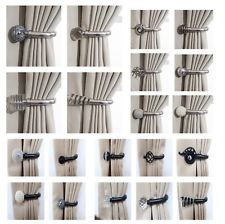 Home Harmony Decorative Pair of Curtain Holdbacks Wall Mounted Curtain Tie  Backs