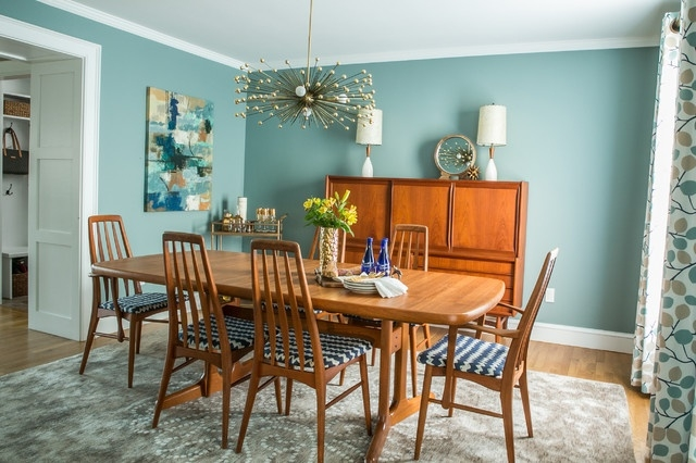Mid-Century Modern Dining Room - Transitional - Dining Room with regard to  7 Amazing