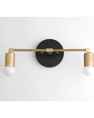 Vanity Light Fixture Bathroom Sconce Vanity Lighting Brass Black Vanity Mid  Century Modern Fixture Contemporary Lighting