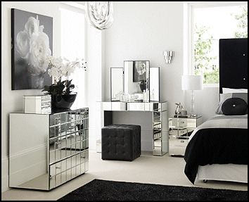 Good looking mirrored glass bedroom   furniture