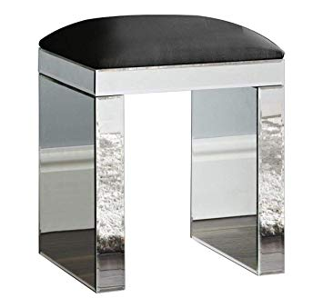 D PRO T Mirrored Stool Dressing table Stool Chair Furniture Glass