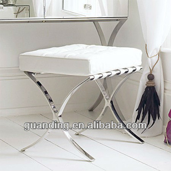 Barcelona Dressing Table Stool - Buy Modern Mirrored Furnitured