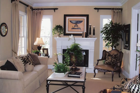 Capistrano model home interior design Orange County