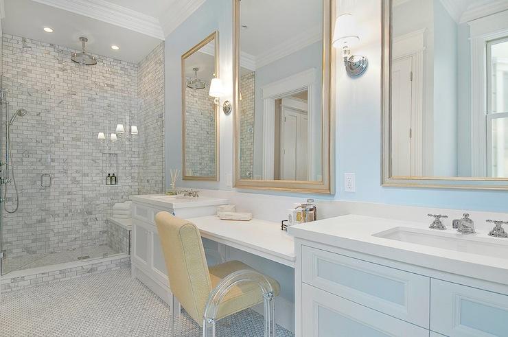 trendy bathroom wall sconces