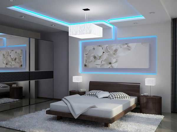Bright modern bedroom ceiling lighting   designs