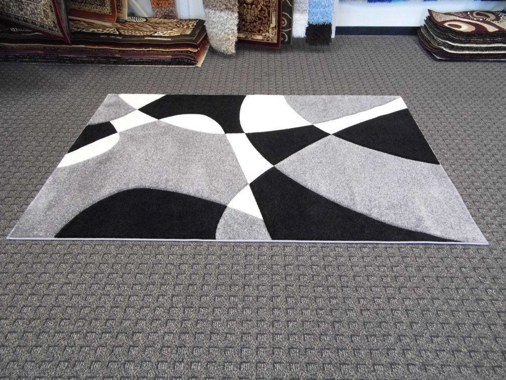 contemporary wool rugs grey carpet on the floor living room decoration gray black  white shag rugs